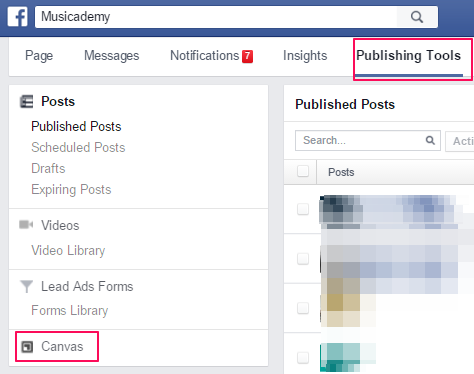 How to create a Facebook Canvas ad Publishing tools