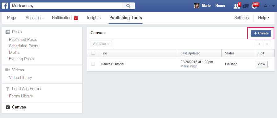 How to create a Facebook Canvas ad
