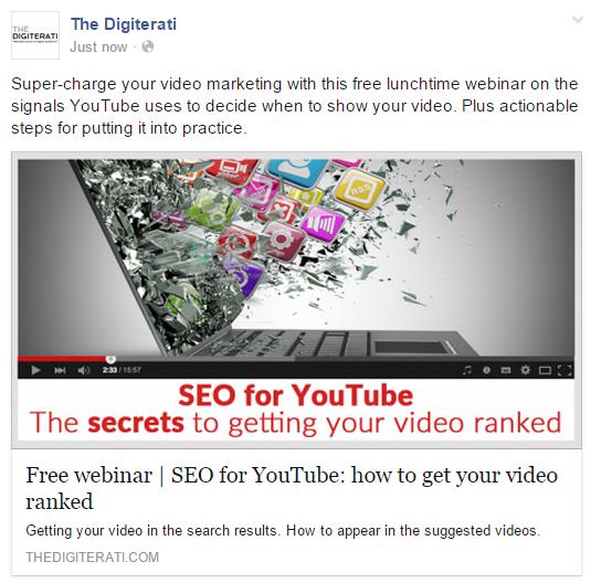 Facebook organic post in newsfeed
