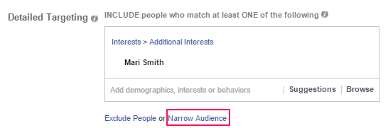 Facebook Narrow Audience
