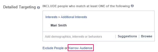 Facebook Narrow Audience