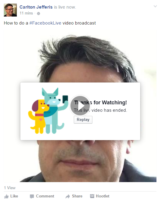Thanks for watching Facebook Live