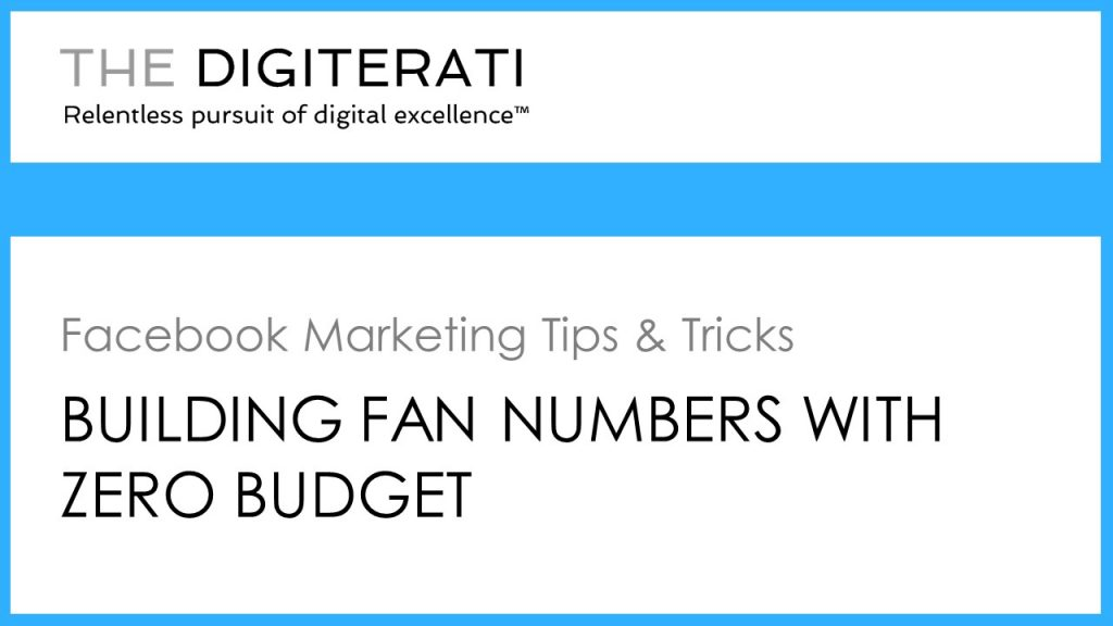 Building Facebook fans with zero budget
