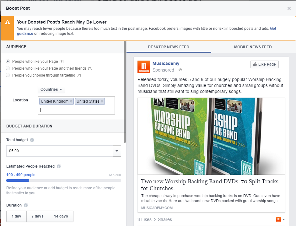 What happens when your Facebook ad image includes A LOT of text?
