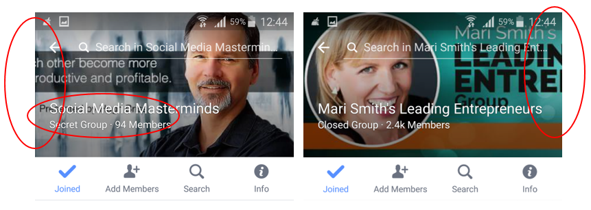 Facebook Group Cover Image size problems on mobile