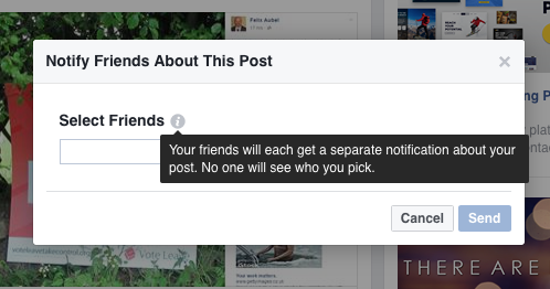 New Facebook Feature: Notify Friends 2