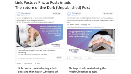 Why you should use dark posts on Facebook