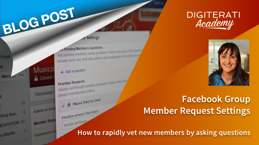 Facebook Group Member Request Settings: new Facebook feature
