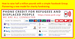 New model of charity fundraising using a Facebook Group
