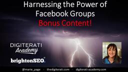BrightonSEO Facebook Groups Bonus Content
