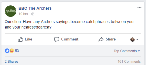 The-Archers-conversational-post-examples