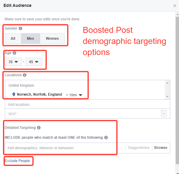 Boosted-post-deographic-targeting-options