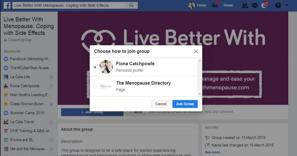 Can Facebook Pages join Facebook Groups?