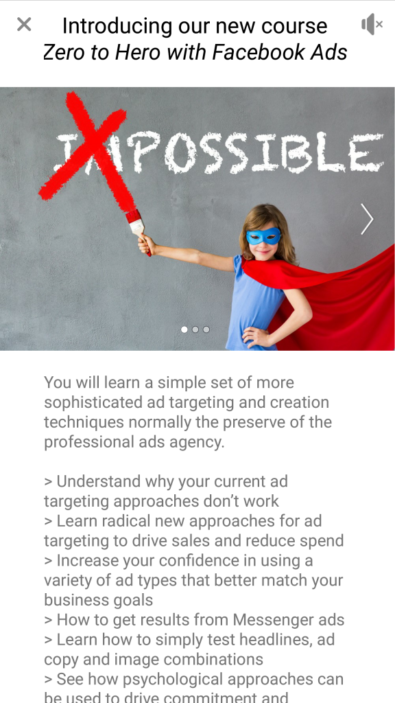 How to create a Facebook Instant Experience Ad (previously