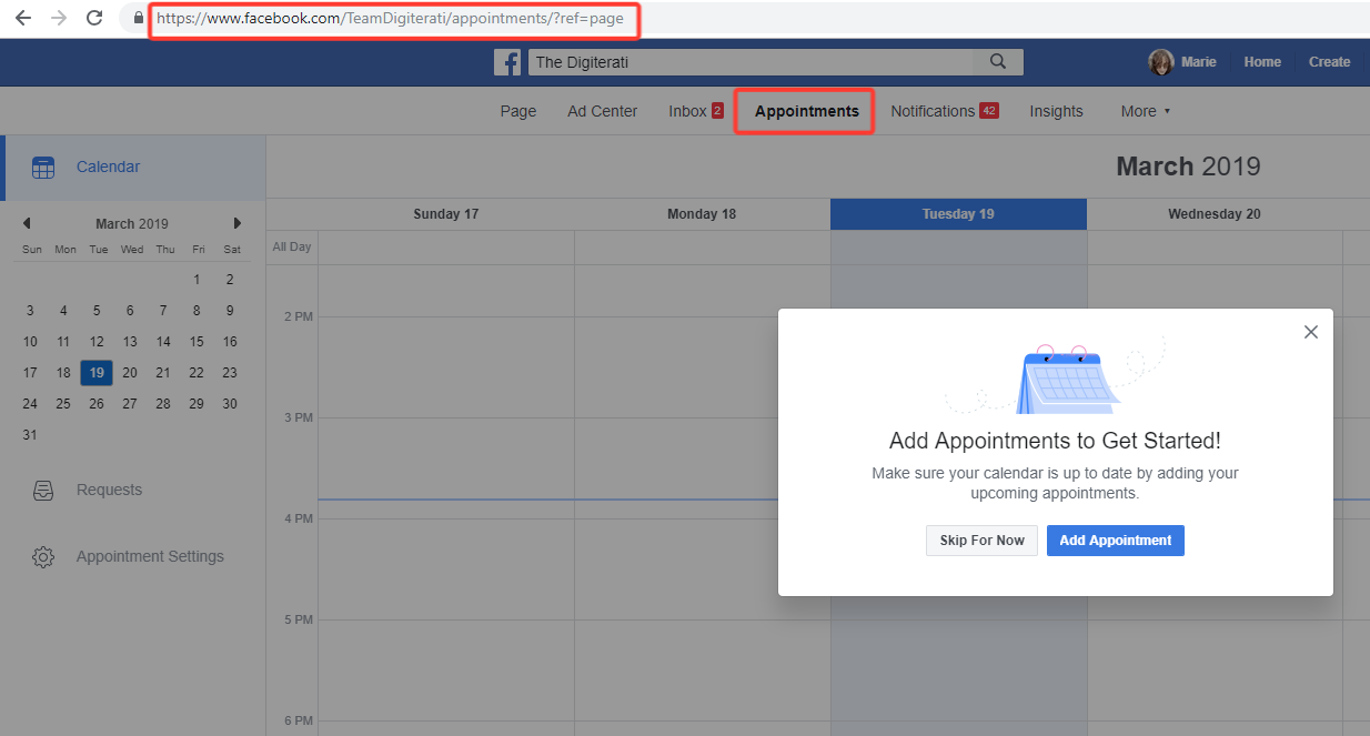 How to set up appointments on your Facebook Page | The